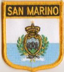 San Marino Embroidered Flag Patch, style 07